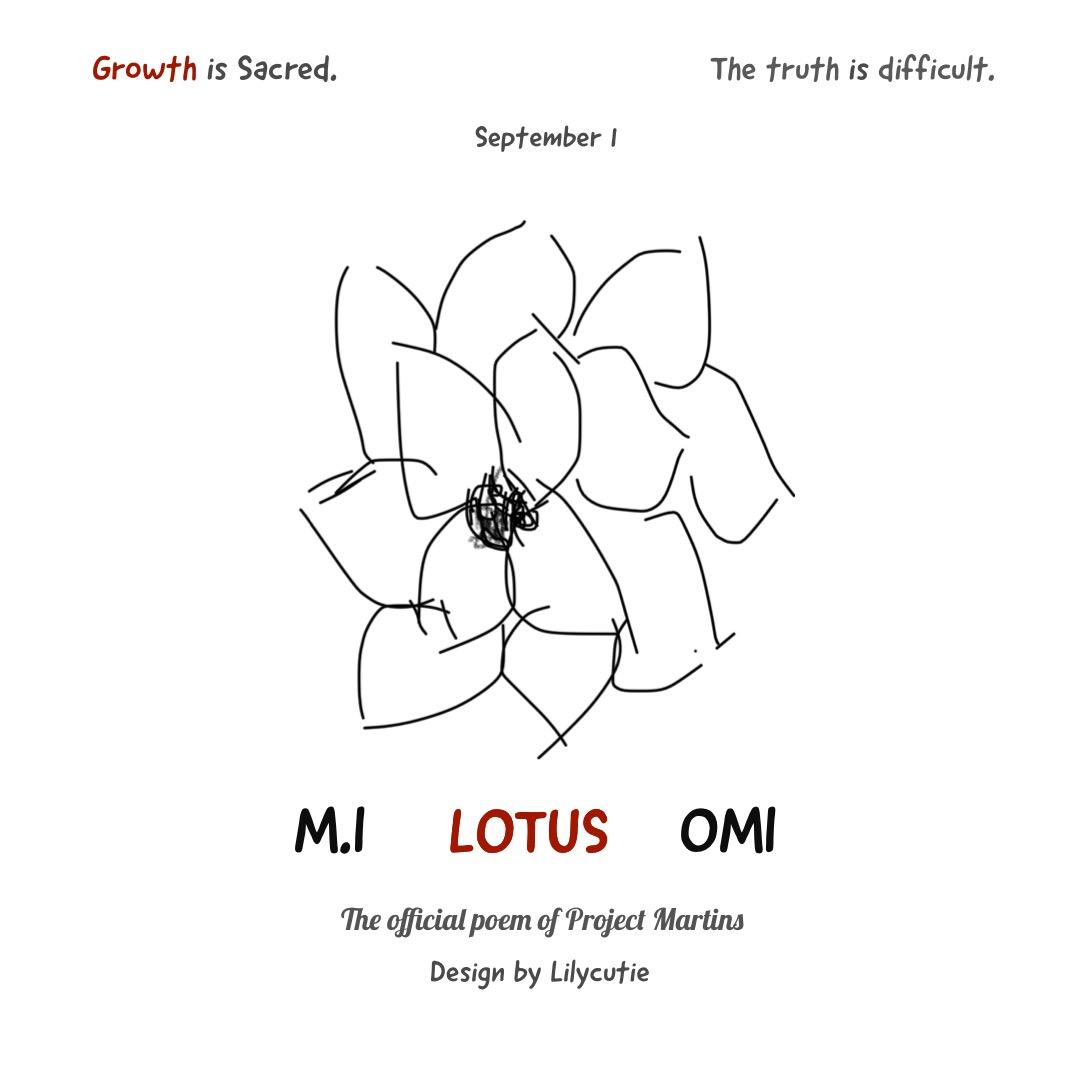 Lotus Writings On A Wall